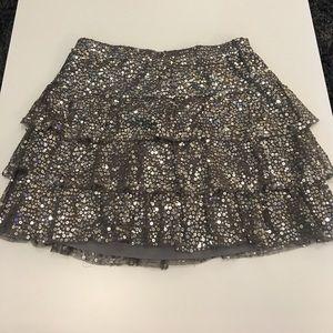 Sequin Ruffle Skirt