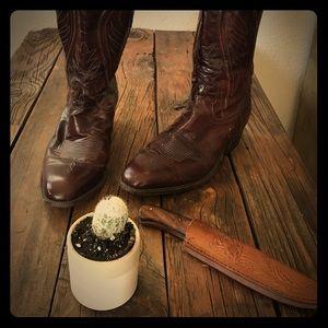 Dan Post  Shoes - Authentic Cowboy Boots - brown leather
