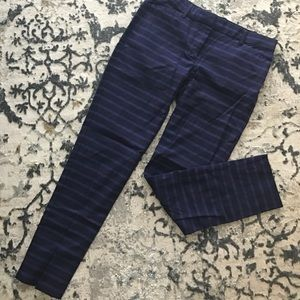 Gap slim cropped striped pant
