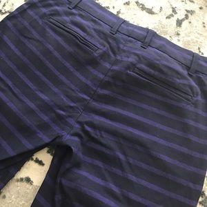 GAP Pants - Gap slim cropped striped pant