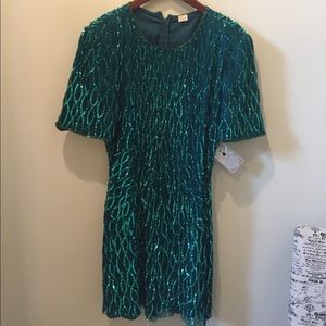 VINTAGE Green Sequin Dress CLOSET CLEAR OUT