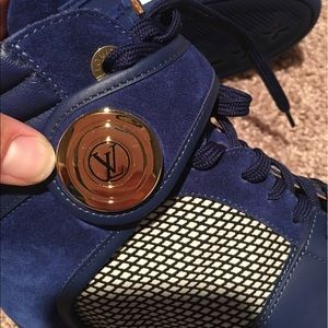 46528c60de5a Louis Vuitton Shoes - 🚫SOLD on ebay🚫LV Postmark Blue Suede Hi-top