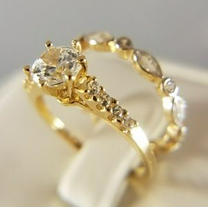 Jewelry - 14k Yellow Gold Engagement Ring & Wedding Band