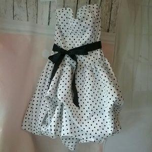 Gunne Sax Dresses & Skirts - Gunne Sax Viva Las Vegas Polka-dot Dress Mini 3/4