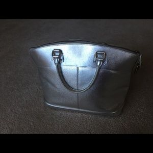 Louis Vuitton Suhali Lockit pm silver bag