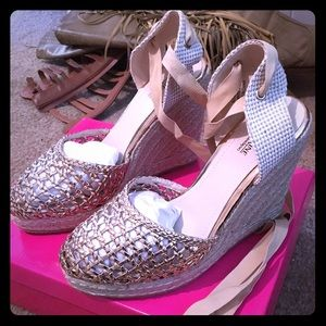 Catherines Shoes - Rose Gold Espadrilles from Nordstrom