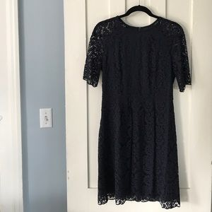 Madewell Women's Navy Lace Shift Dress Size 8