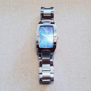 Casio Accessories - *SALE* Blue Face Silver Link Ladies Casio Watch