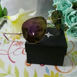 Accessories - Aviator Metal Frame Mirrored Lenses Men woman