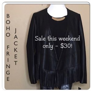 Bernardo Jackets & Blazers - Boho style fringe jacket NWT!