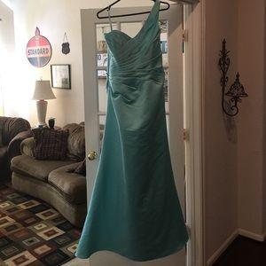 Mori Lee Dresses & Skirts - Aqua/light blue gown
