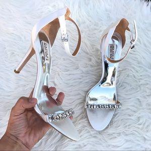 Badgley Mischka Shoes - BADGLEY MISCHKA JEWELED HEELS  Sz 9 new