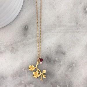 Floral Branch Necklace