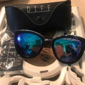 Diff Eyewear Accessories - Diff Rose Sunglasses blue lens