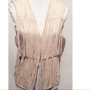 artisan NY Jackets & Blazers - Artisan NY Fringe Vest Medium