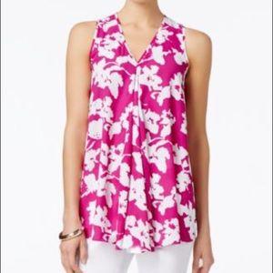 Alfani Tops - Alfani Sleeveless Floral Print Trapeze Blouse 4