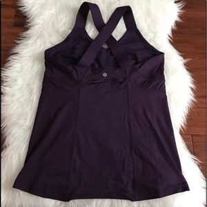 lululemon athletica Tops - Lululemon Push Ur Limits Purple Thick Strap Tank