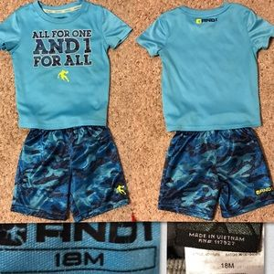 Boys Short Outfit size 18 mo.