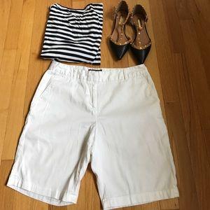 Adrienne Vittadini Pants - Classic White Shorts by Adrienne Vittadini