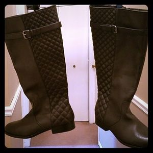 Lane Bryant Wide calf wide width quilted boot