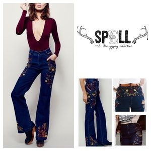 Spell & The Gypsy Collective Denim - 🆕Spell & The Gypsy Wanderlust Floral Jeans. NWOT.