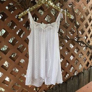 Cabernet Other - {Cabernet} White Lace + Polka Dot Nightgown S