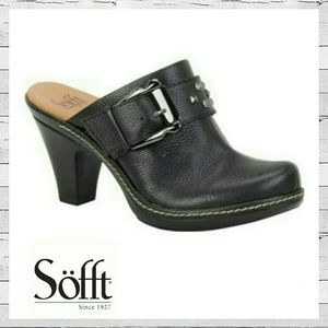 Sofft Shoes - Sofft Daney Clogs In Black Leather Sz 7.5