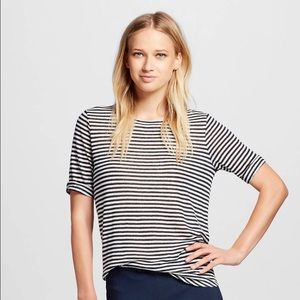 who what wear Tops - Who What Wear linen striped tee