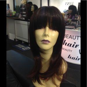 Accessories - Black/plum super cute classic style wig New
