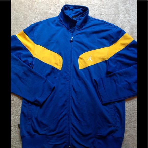 6ac9d6a9b260fb Jordan Other - Nike Air Jordan track jacket Laney blue gold mens