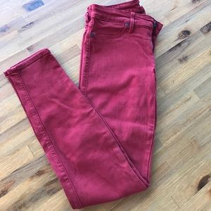 Rich & Skinny Denim - Rich and Skinny deep red jeans size 29