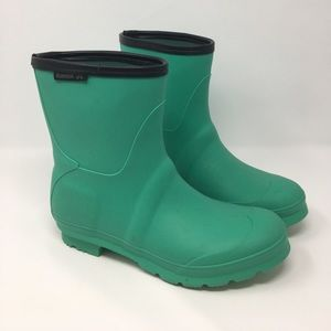 Kamik Shoes - Kamik Green Rubber Rain Boots