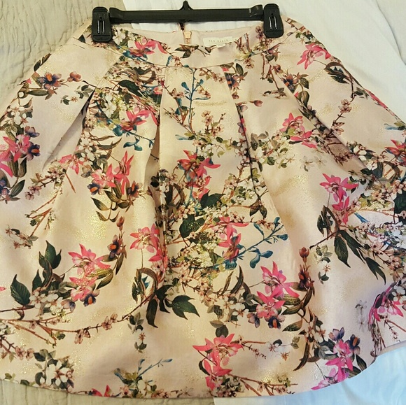 95f8b36300 Ted Baker London Skirts | Ted Baker Juliane Metallic Jacquard Skirt ...