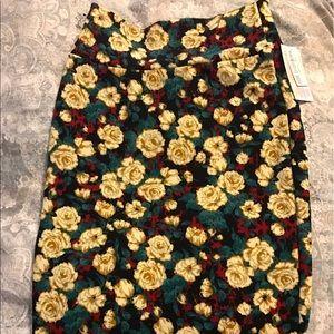 LuLaRoe Floral Cassie Skirt XS NWTs