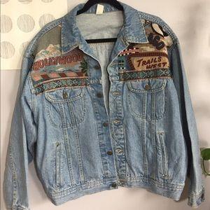 Vintage Route 66 Denim Jacket