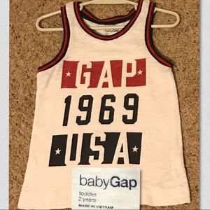 Baby Gap Tank Top Red, White & Blue size 2T