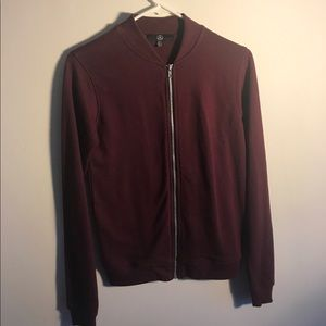 Missguided Jackets & Blazers - Misguided burgundy bomber jacket