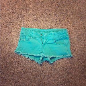 Dollhouse Pants - Size 7 teal denim shorts
