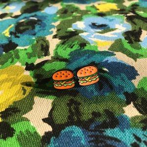 Hot Topic Jewelry - Cheeseburger/Krabby Patty earrings! Brand new!