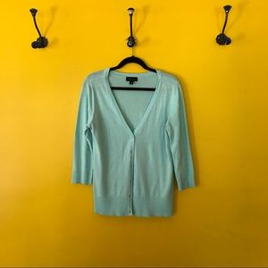 AB Studio Sweaters - AB Studio Light Blue Cardigan Sweater