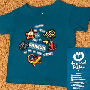 Bright Blue Baby Shirt From Cancun  size 1