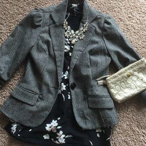 Stoosh Jackets & Blazers - Gray Blazer Professional 3/4 Sleeve Stooshy Brand