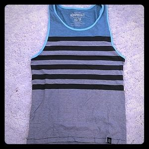 Other - Mens XS tank top turquoise Black and White