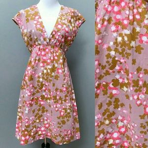 Garnet Hill Dresses & Skirts - Garnet Hill Mauve Watercolor Floral Dress