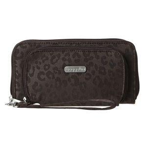 Baggallini Handbags - Baggalini Hudson Wallet in Espresso Cheetah
