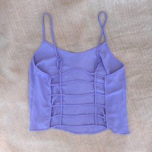 Lush Tops - Lush Norstrom purple tank top with cage back