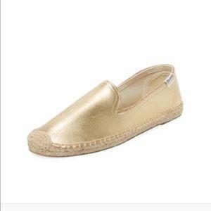 Soludos Shoes - Soludos Metallic Leather Slip-on, 5M