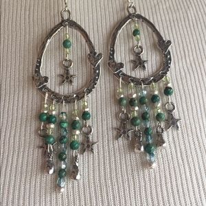 brindleracerdesigns Jewelry - Price Drop🌷African Turquoise & Silver Earrings