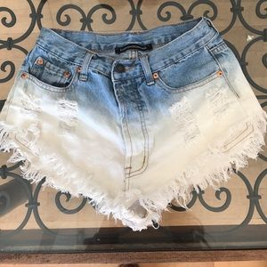 Foreign Exchange Pants - Foreign Exchange denim shorts