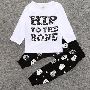 Other - Hip to the bone Skull Top and Bottom 6-9 months